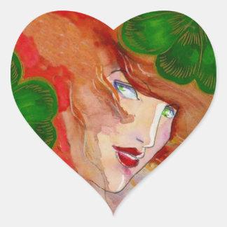 Sticker Irish Eyes Enchant Goddess Shamrock Clover