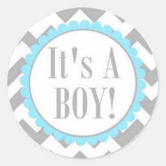 Sticker/It's a Boy Round Sticker
