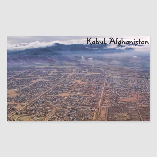 Sticker: Kabul from above