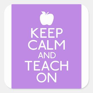 Sticker - KEEP CALM AND TEACH ON