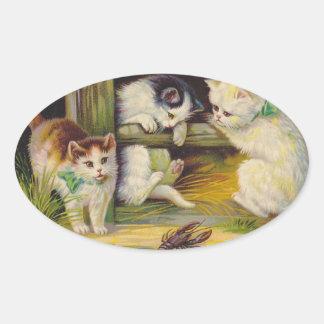 Sticker Kittens @ Play Farm Barnyard Fence Vintage