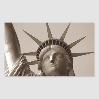 Sticker Lady Liberty Island USA Sepia Statue Of