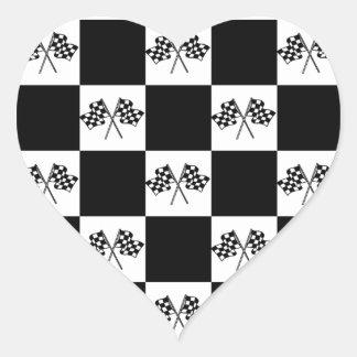 Sticker Love Auto car Racing Checkered Flags Flag
