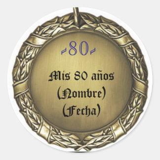 sticker or sticker with medal birthday sea bream