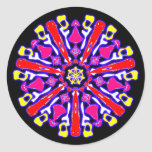 Sticker psychédélique coloré n°2 adhésifs