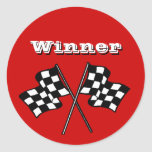 Sticker Race Fans Winner Chequered Flags auto cars