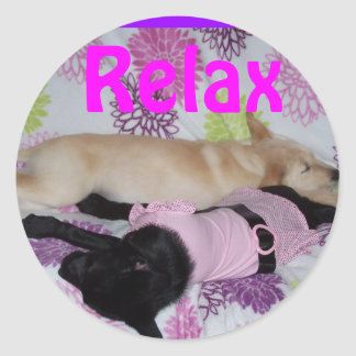 sticker, Relax Classic Round Sticker