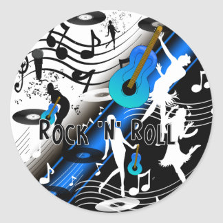 Sticker Retro Rock 'N' Roll Music Rocks Me