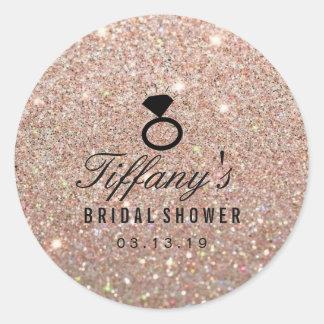 Sticker - Ring Bridal Shower Glitter Rose Gold