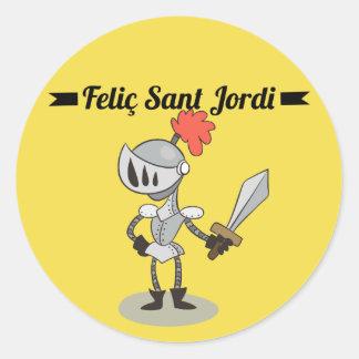 Sticker, Rodona Feliç Sant Jordi 2 Classic Round Sticker