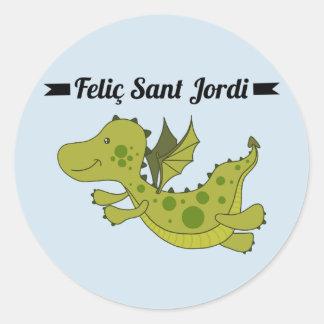 Sticker, Rodona Feliç Sant Jordi Round Sticker