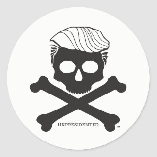 Sticker - round, white with black logo