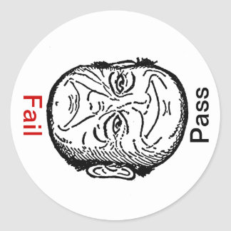 Sticker Sat Unsat Pass Fail Optical Illusion Man