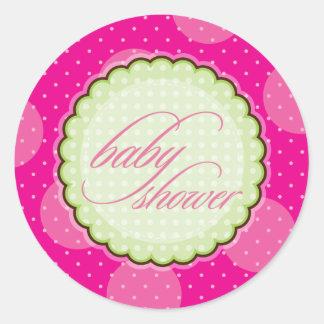 STICKER / SEAL :: baby shower - bright