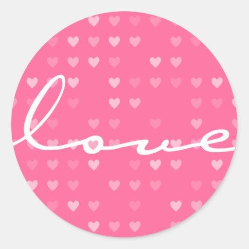 STICKER / SEAL :: love