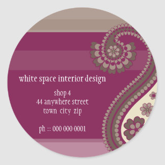 STICKER SEAL :: Paisley 4