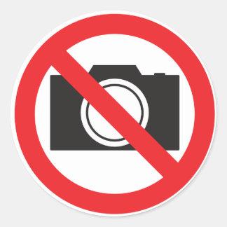 Sticker-Sign No camera Allowed Classic Round Sticker