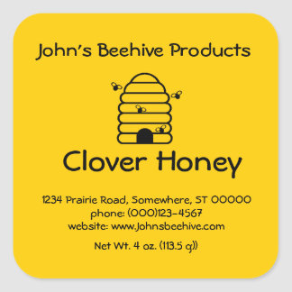 Sticker (sq)- Honey Business