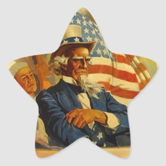 Sticker Stars Navy Uncle Sam Vintage Advertising