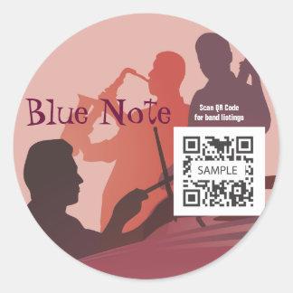 Sticker Template Event Jazz Band