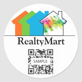 Sticker Template Real Estate House