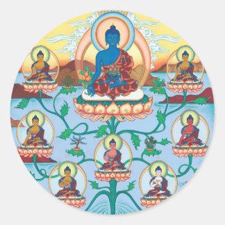 STICKER The 8 Medicine Buddhas