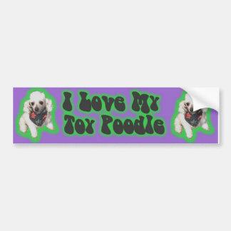 Sticker toy poodle car bumper sticker