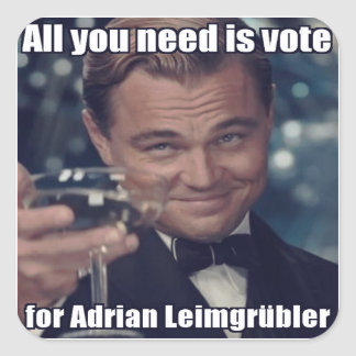 Sticker - universe you need is vote for Adrian