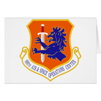STICKER USAF 608th Air and Space Operations Center Greeting Card