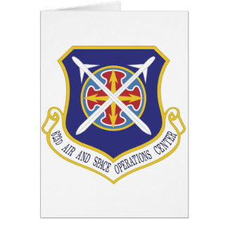 STICKER USAF 623rd Air and Space Operations Center Greeting Card