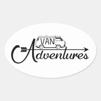 Sticker Van Adventures x4