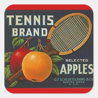 Sticker Vintage Advertising Tennis Brand Apples Fr