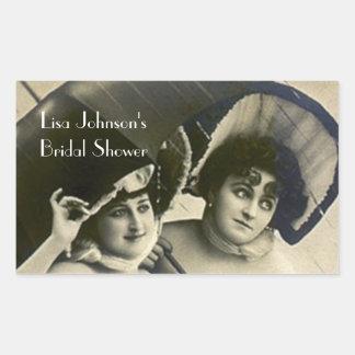 Sticker Vintage Friends Bridal Shower Scrapbooking