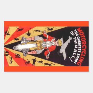 Sticker Vintage Motorcycling Promo Antique Orange