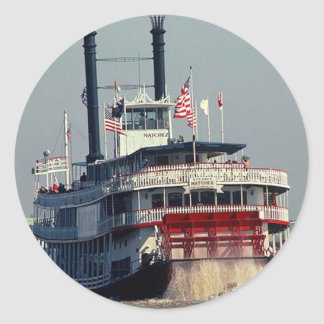 Sticker Vintage New Orleans Steamboat Paddle River