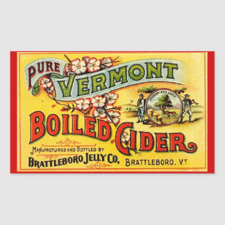 Sticker Vintage Pure Vermont Boiled Cider Old Labl