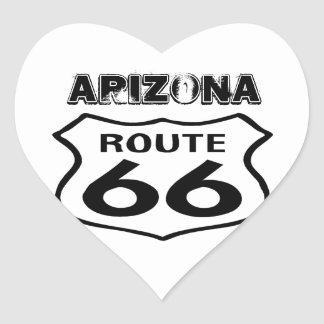 Sticker Vintage Route 66 Worn State Arizona Heart