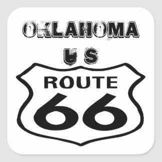 Sticker Vintage Route 66 Worn State Oklahoma US