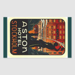 Sticker Vintage Travel Hotel Stockholm Sweden
