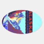 Sticker Vintage Travel Promo Alaska Atlin Yukon