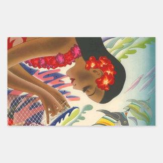 Sticker Vintage Tropical Hawaiian Islands Travel