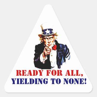 Sticker Vintage Uncle Sam Marines Slogan Yielding