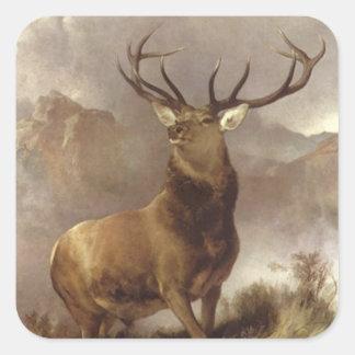 Sticker Wildlife Majestic Bull Elk Mountain Storm
