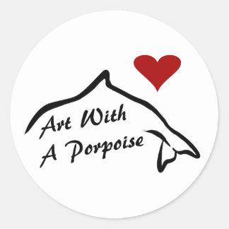 Sticker With A Porpoise - White