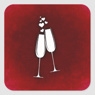 Sticker With Champagne Glasses