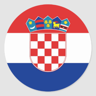 Sticker with Flag of Croatia
