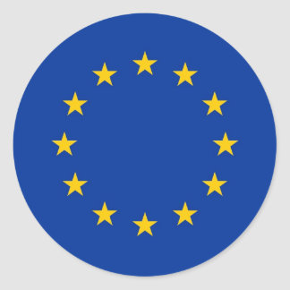 Sticker with Flag of European Union