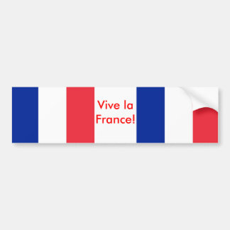 Sticker with Flag of France