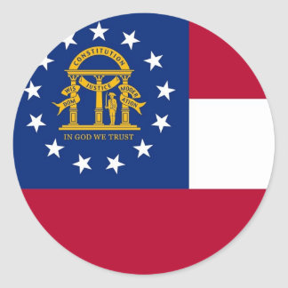 Sticker with Flag of Georgia