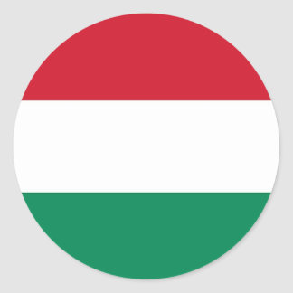 Sticker with Flag of Hungary